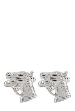 Raymond Silver Engraved Metal Cufflinks