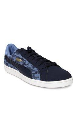 Puma Smash Buck Camo Peacoat & Blue Yonder Sneakers