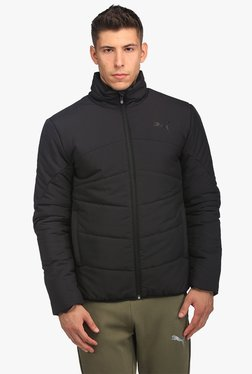 Puma Black Quilted Full Sleeves Jacket