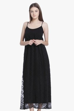 Vero Moda Black Lace Midi Dress