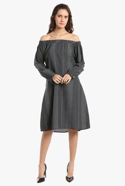 Vero Moda Black Printed Knee Length Dress
