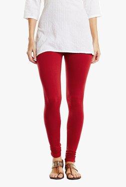 Aurelia Red Cotton Knit Churidar