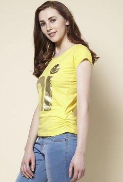 Zudio Yellow Hi Crew Neck T-Shirt