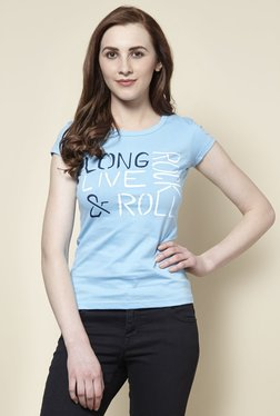 Zudio Blue Rock Crew Neck T-Shirt