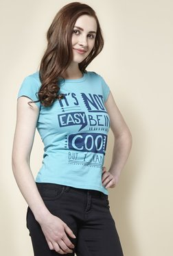 Zudio Aqua Cool Crew Neck T-Shirt