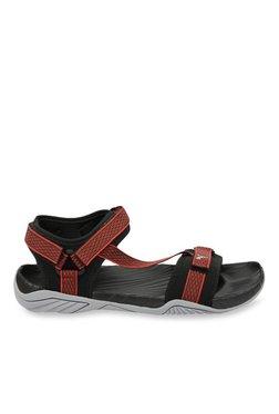 Puma Aqua Black & High Risk Red Floater Sandals