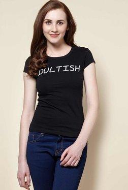 Zudio Black Adult Crew Neck T-Shirt