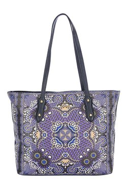 Lavie Injun Purple & Black Printed Shoulder Bag