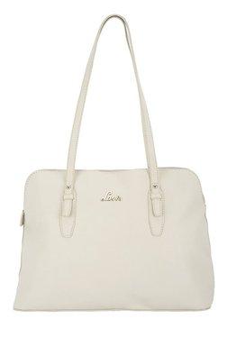 Lavie Westford Off-White Solid Shoulder Bag