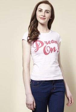 Zudio Pink Dream Crew Neck T-Shirt