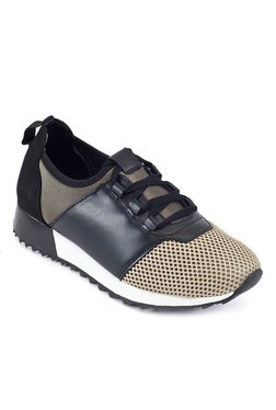 Truffle Collection Khaki & Black Training Shoes - Mp000000002043983