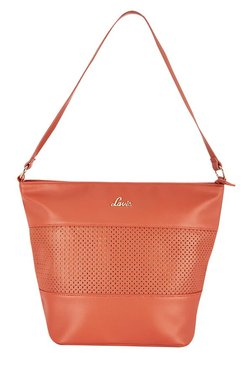 Lavie Bhote Orange Cut Work Shoulder Bag
