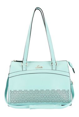 Lavie Rockwell Aqua Blue Cut Work Shoulder Bag