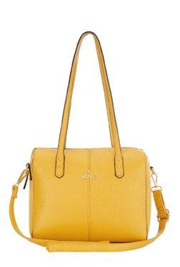 Lavie Trios Ochre Solid Bowler Shoulder Bag
