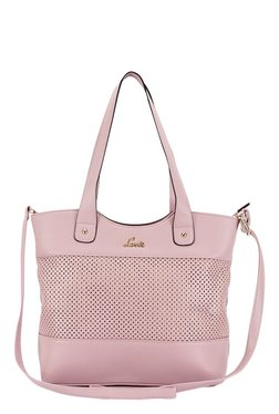 Lavie Maya Pink Cut Work Shoulder Bag