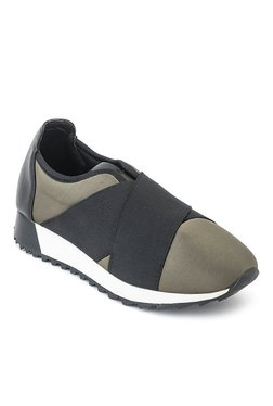 Truffle Collection Khaki & Black Training Shoes
