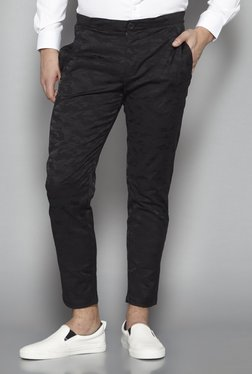 Weststreet By Westside Black Slim Fit Cropped Trousers