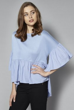 LOV By Westside Light Blue Top
