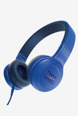 JBL E35 On the Ear Earphones with Mic (Blue)