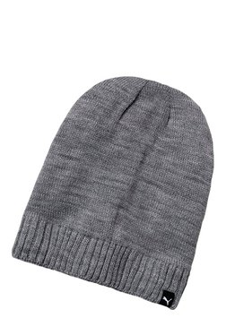 Puma Active Slouchy Grey Heather Solid Polyester Beanie