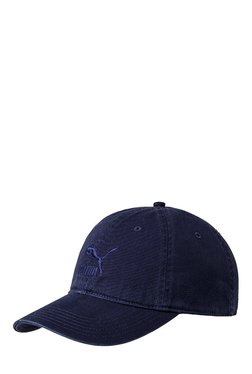 Puma Archive Navy Solid Cotton Gus Cap
