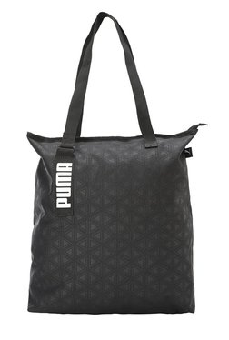 Puma Core Active Black Printed Polyester Tote