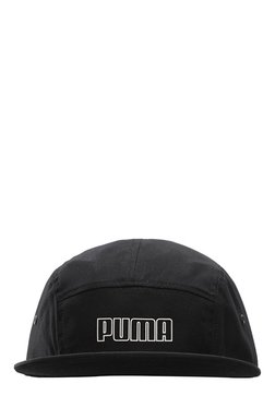 Puma Archive 5 Black Solid Polyester Panels Cap