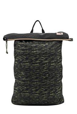 Puma Prime Street Black & Avocado Printed Polyester Backpack