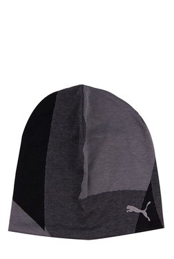 Puma Evolution Black Color Block Polyester Beanie