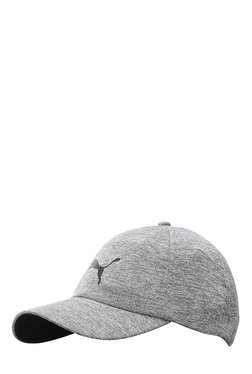 Puma Evolution Grey Heather Solid Polyester Baseball Cap