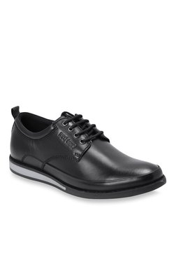 ffbfe2186597 Red Chief Black Derby Shoes