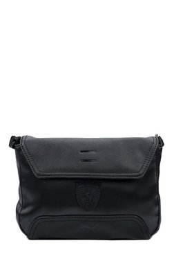 Puma Ferrari LS Black Solid Messenger Bag