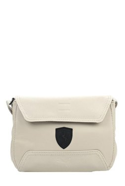 Puma Ferrari LS Cream Solid Messenger Bag