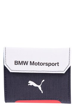 Puma BMW Motorsport Navy & White Solid Tri-Fold Wallet