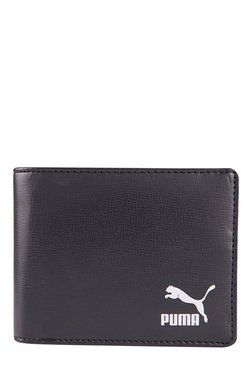 Puma Originals Billfold Black Solid Bi-Fold Wallet 88e5b4e43530