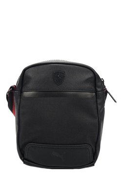 Puma Ferrari LS Black Solid Sling Bag