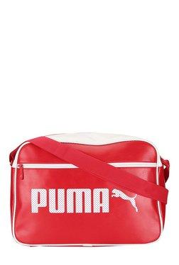 Puma Campus Reporter Barbados Cherry Solid PU Sling Bag