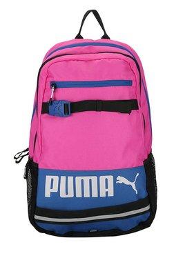 Puma Deck Pink & True Blue Color Block Laptop Backpack