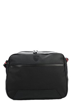 Puma Ferrari LS Reporter Black Solid Laptop Messenger Bag