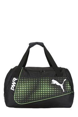 Puma Evopower Black & Green Gecko Printed Polyester Gym Bag