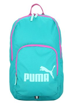 49e4d84615a1 Puma Phase Turquoise Blue Solid Polyester Laptop Backpack