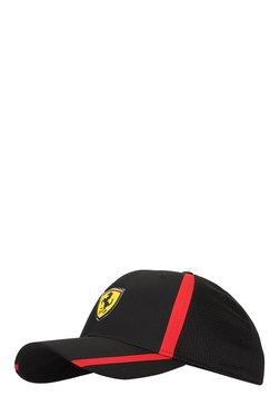 Puma Ferrari Fanwear Black Textured Polyester Running Cap