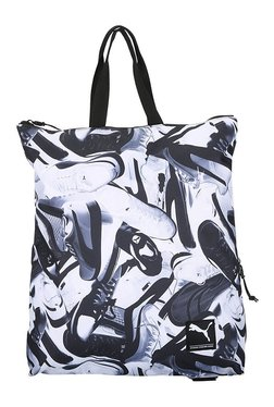 fc01dc6a136f Puma Academy White   Black Printed Polyester Laptop Backpack