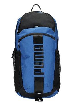 d94677bd5711 Puma Deck True Blue   Black Solid Polyester Laptop Backpack