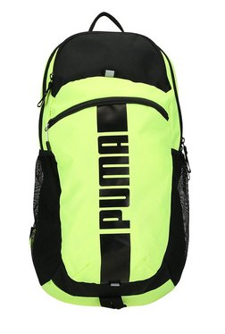 c7ca84ba3cd6 Puma Deck Safety Yellow   Black Solid Laptop Backpack