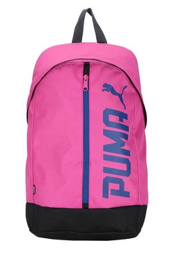 a473fad0 Puma Pioneer Pink & Black Solid Polyester Laptop Backpack