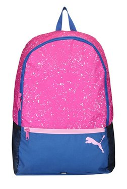 59e5ee26b828 Puma Alpha Pink   Blue Printed Polyester Laptop Backpack