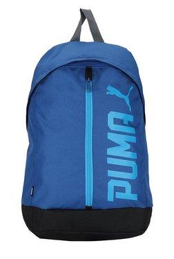 a9d2674e4fd7 Puma Pioneer True Blue   Black Solid Laptop Backpack