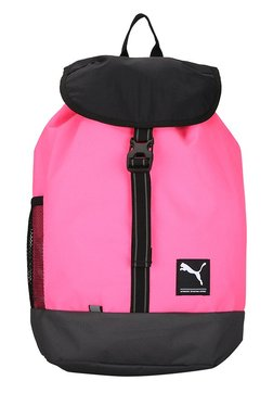 1b6674950fbe Puma Academy Knockout Pink   Black Solid Laptop Backpack