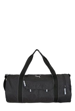 Puma Fit AT Black Printed Polyester Gym Bag